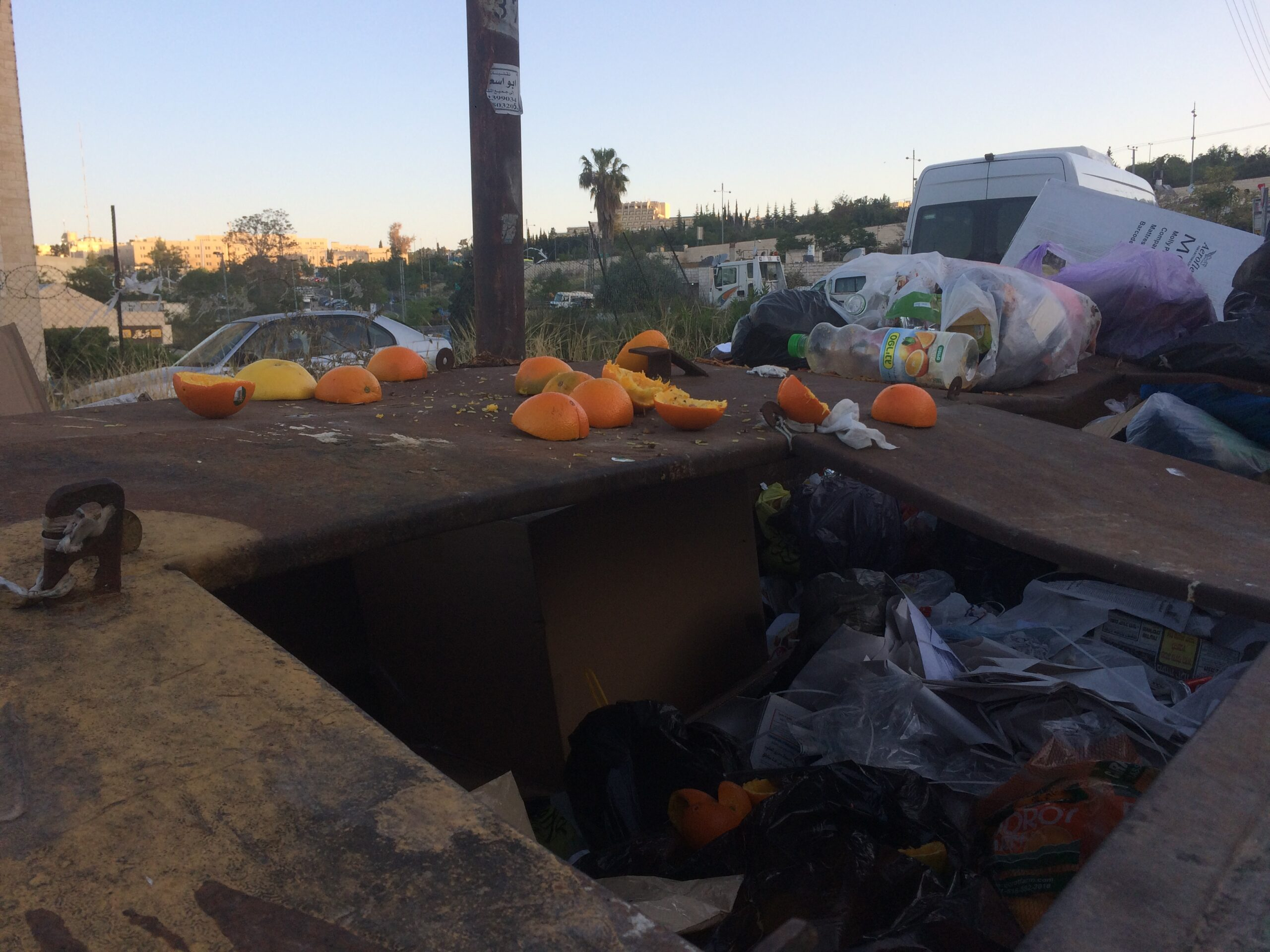 trash container jerusalem food waste